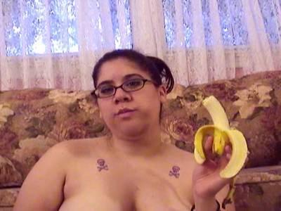 BBW Selbstbefriedigung mit Banane